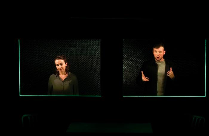 Lia Burge and Matt Whitchurch in Spiderfly at Theatre503. Photo: Josh McClure