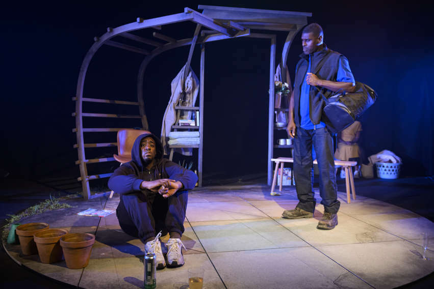 Stanley J Browne and Reece Pantry in One Under at Theatre Royal Plymouth. Photo: Patrick Baldwin