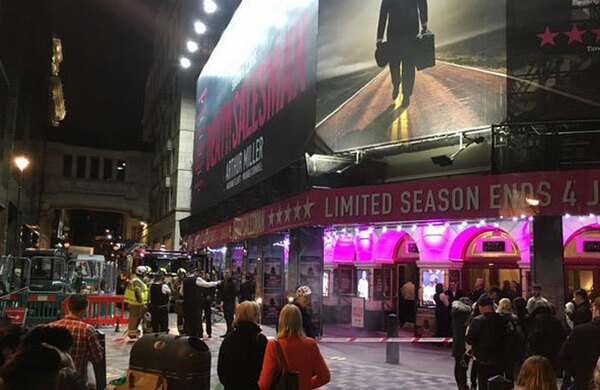 ATG confirms five people injured after plasterboard fell at the Piccadilly Theatre