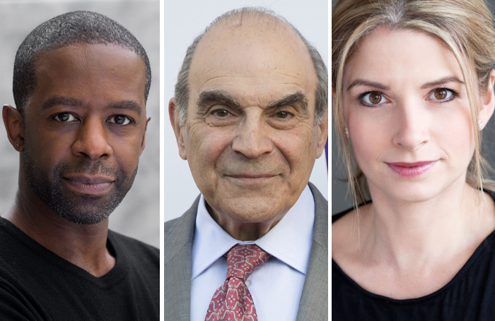 Adrian Lester, David Suchet and Caroline Sheen all shared stories about jobs they had done in-between acting roles. Photos: Ed Miles/Ross Ferguson