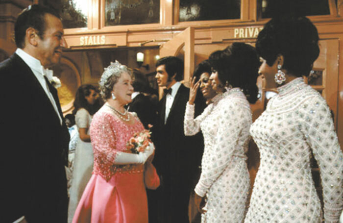 The Queen Mother meeting the Supremes at the 1968 Royal Variety Performance