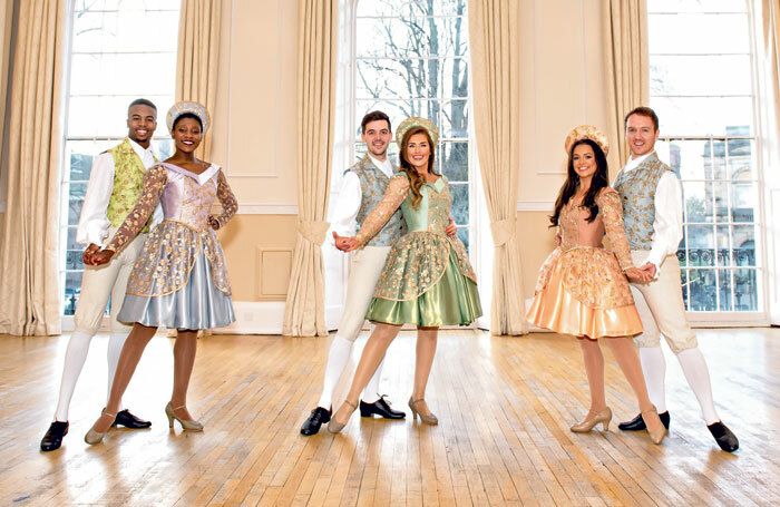 Kamau Davis, Evonee Bentley-Holder, Colin Burnicle, Danielle Mullan, Charleigh Webb and Nick Stuart in Sleeping Beauty at York Theatre Royal. Photo: Anthony Robling