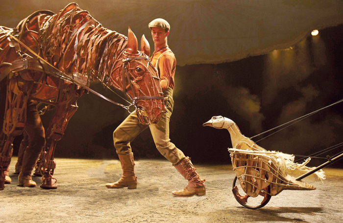 War Horse at the New London Theatre, which was originally developed at the National Theatre Studio. Photo: Brinkhoff Mogenburg