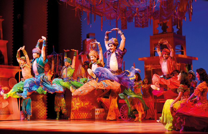 Disney's Aladdin at the Prince Edward Theatre features a cast from a huge range of backgrounds. Photo: Deen van Meer/ Disney