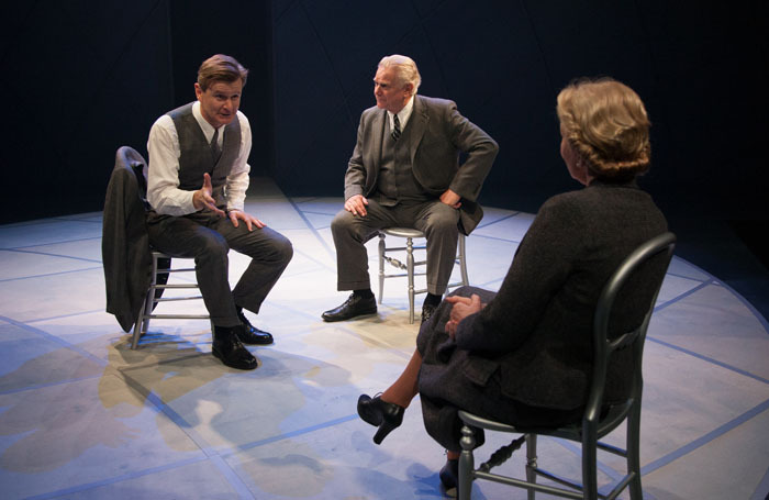 Charles Edwards, Paul Jesson and Patricia Hodge in Copenhagen