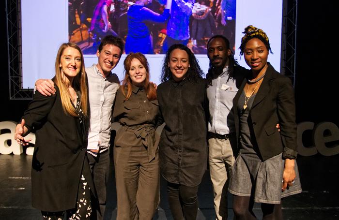 Ideas Fund recipients Kate Scanlan, Joel O'Donoghue, Kasia Truefitt, Kloe Dean, Michael Simon and Grace Okereke. Photo: Shane Gentles