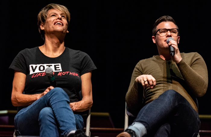 Alexandra Billings and Will Davis at Manhattan Theatre Club's Trans Visibility in the Theatre panel. Photo: Howard Sherman