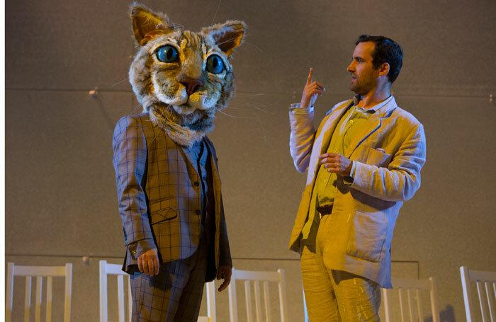 Oguz Kaplangi and Robert Jack in Rhinoceros at the Edinburgh International Festival in 2017. Photo: Beth Chalmers