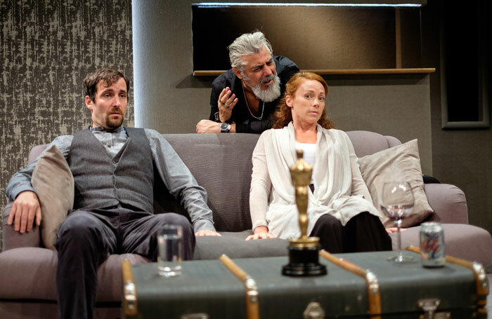 Robert Jack, Darrell D'Silva and Lucianne McEvoy in Ulster American at Traverse Theatre, Edinburgh. Photo: Sid Scott