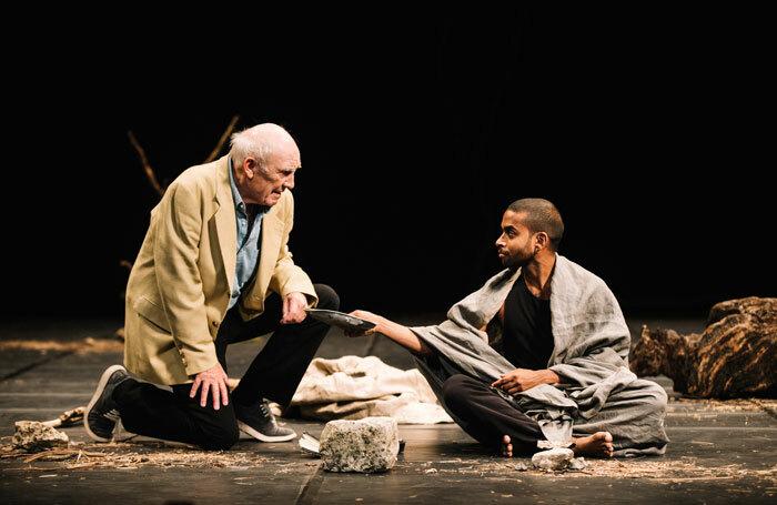 Donald Sumpter and Hiran Abeysekera in The Prisoner at the Royal Lyceum Theatre, Edinburgh. Photo: Ryan Buchanan
