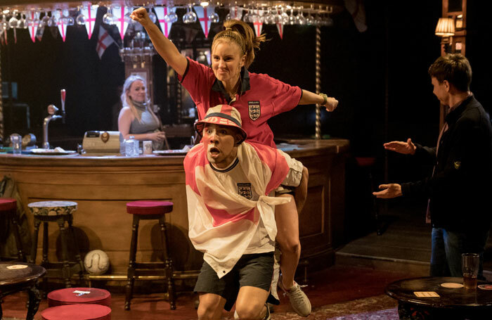 Makir Ahmed and Kirsty J Curtis in Sing Yer Heart Out for the Lads. Photo: Manuel Harlan