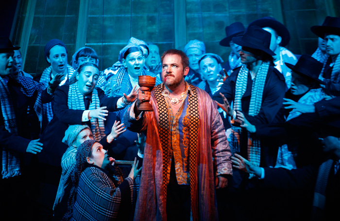 Robert Murray in Belshazzar at the Grange Festival. Photo: Simon Annand