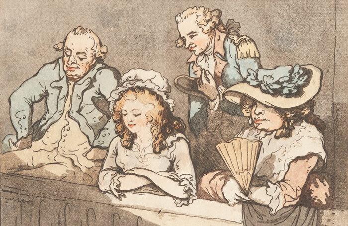 Audience scene by Samuel Alkan (1800). Photo: Gerald Coke Handel Foundation
