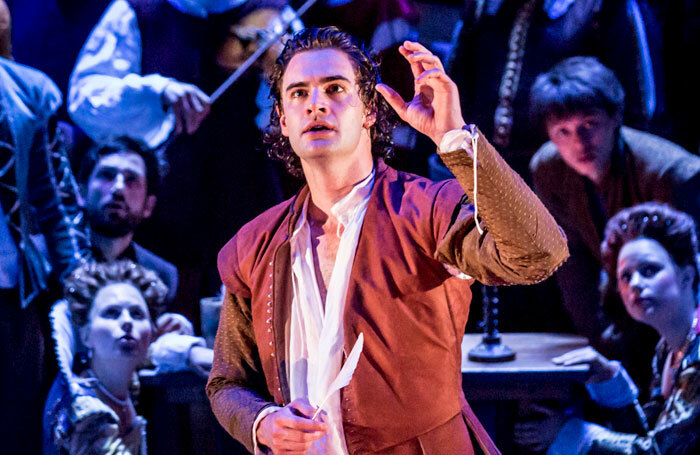 Tom Bateman in Shakespeare in Love at the Noel Coward Theatre. Photo: Johan Persson.