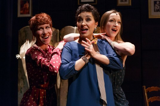 Anna-Jane Casey, Ria Jones and Sarah-Louise Young in Jerry's Girls at St. James Studio. Photo Credit Darren Bell