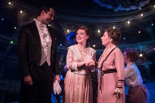 Funny Girl - Darius Campbell (Nick Arnstein), Sheridan Smith (Fanny Brice), Marilyn Cutts (Mrs Brice) by Marc Brenner