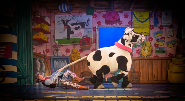 YAT Panto Jamie Brook and Daisy the Cow