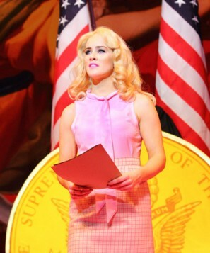 Lucie Jones as Elle Woods. Photo credit Catherine Ashmore