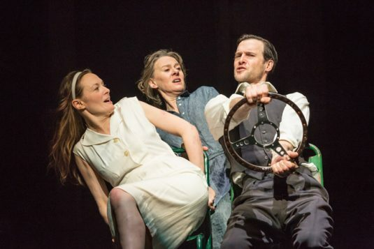 My Brilliant Friend Part 1. Catherine McCormack, NIamh Cusack and Jonah Russell. Photo credit Marc Brenner (9)
