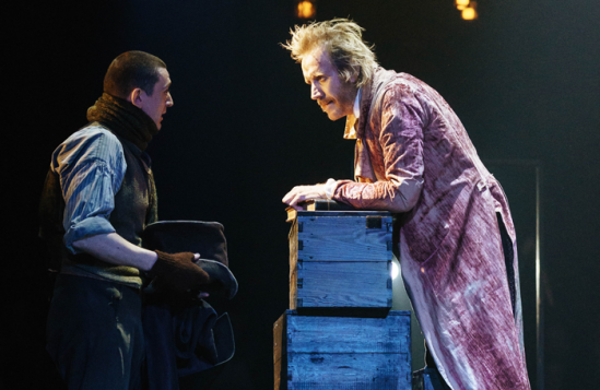 John-Dagleish-(Bob-Cratchit)-and-Rhys-Ifans-(Ebenezer-Scrooge)-in-A-Christmas-Carol-at-The-Old-Vic