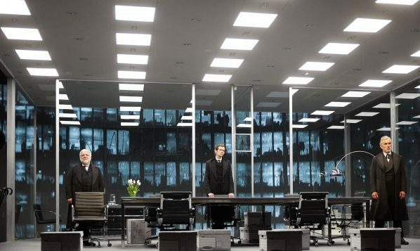 Simon Russell Beale,  Adam Godley and Ben Miles inThe Lehman Trilogy at the National Theatre