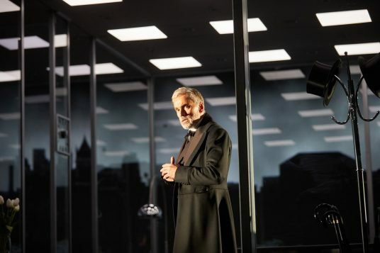 Ben Miles in The Lehman Trilogy at the National Theatre