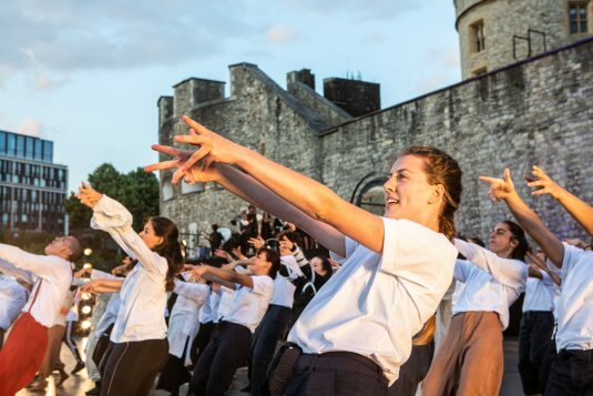 East Wall at the Tower of London Image Victor Frankowski finale choreographed by Hofesh Shechter 2