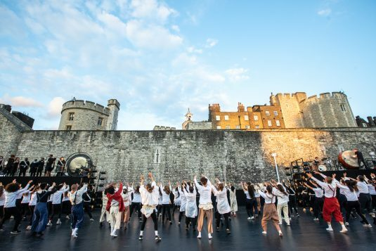 East Wall at the Tower of London Image Victor Frankowski finale choreographed by Hofesh Shechter