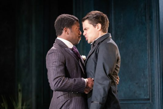 Fehinti Balogun as Algernon and Jacob Fortune-Lloyd as Jack 2 © Marc Brenner