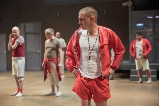 Joel Gillman as Randle P McMurphy. Photo by Mark Douet.