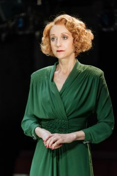Lia Williams (Jean Brodie) in The Prime of Miss Jean Brodie at the Donmar Warehouse, directed by Polly Findlay, designed by Lizzie Clachan. Photo Manuel Harlan (2)