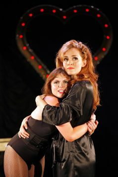 Sweet Charity at The Watermill. Gemma Sutton and Vivien Carter. Photo by Philip Tull 359
