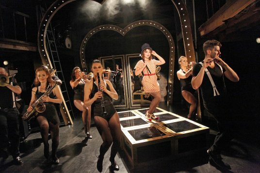 Sweet Charity at The Watermill. Gemma Sutton and members of the cast. Photos by Philip Tull 141
