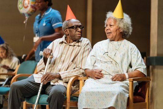 l-r Louis Mahoney (Neville) and Cleo Sylvestre (Cora) - Photo credit Manuel Harlan