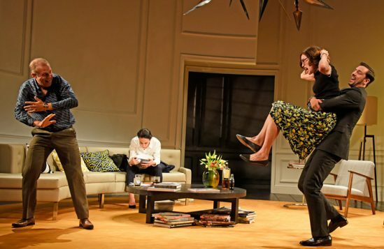 Nigel-Lindsay-Amanda-Abbington-Elizabeth-McGovern-Ralf-Little-in-God-of-Carnage-at-Theatre-Royal-Bath