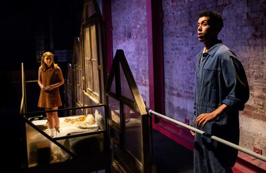 Rafaella Hutchinson & Linford Johnson (l-r) in The Rise and Fall of Little Voice at Park Theatre. Photo by Ali Wright-94
