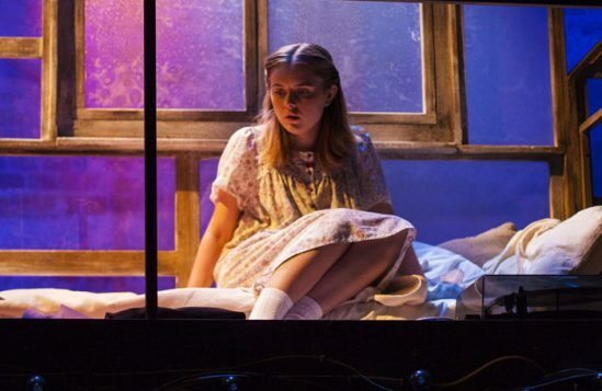 Rafaella Hutchinson in The Rise and Fall of Little Voice at Park Theatre. Photo by Scarlett Casciello 7136