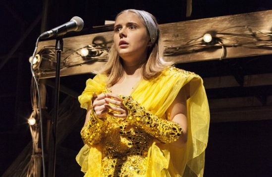 Rafaella Hutchinson in The Rise and Fall of Little Voice at Park Theatre. Photo by Scarlett Casciello 7802