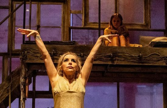 Sally George & Rafaella Hutchinson (l-r) in The Rise and Fall of Little Voice at Park Theatre. Photo by Ali Wright-24