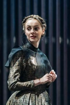 Helena Wilson (Mariana) in Measure for Measure at the Donmar Warehouse directed by Josie Rourke, designed by Peter McKintosh. Photo Manuel Harlan-112