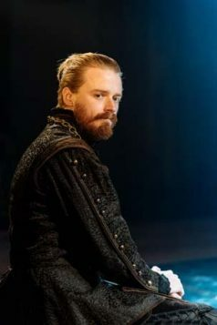Jack Lowden (Angelo) in Measure for Measure at the Donmar Warehouse directed by Josie Rourke, designed by Peter McKintosh. Photo Manuel Harlan-020