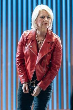 Jackie Clune (Pompey) in Measure for Measure at the Donmar Warehouse directed by Josie Rourke, designed by Peter McKintosh. Photo Manuel Harlan-270
