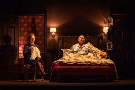 Brid Brennan and Robert Glenister in Pinter Four. Photo credit Marc Brenner. DRESS-8007