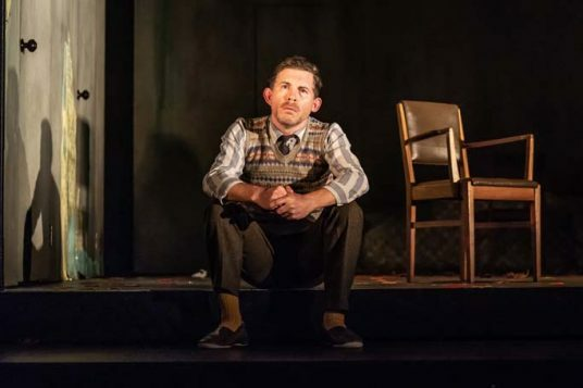 Lee Evans in Pinter Three. Photo credit Marc Brenner. P{inter Three PROD DRESS-531