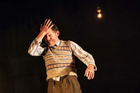 Lee Evans in Pinter Three. Photo credit Marc Brenner.P{inter Three PROD DRESS-487