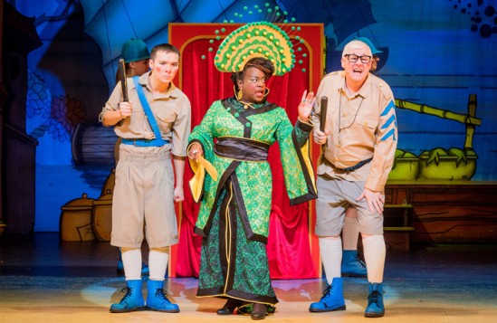 Michael-Lin-as-Constable-Ackee-Tameka-Empson-as-The-Empress-and-Tony-Whittle-as-Sergeant-Dumplin-in-Hackney-Empires-Aladdin
