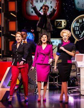 9-TO-5-THE-MUSICAL.-Caroline-Sheen-Violet-Newstead-Amber-Davies-Judy-Bernly-and-Natalie-McQueen-Doralee-Rhodes.-Photo-Pamela-Raith1