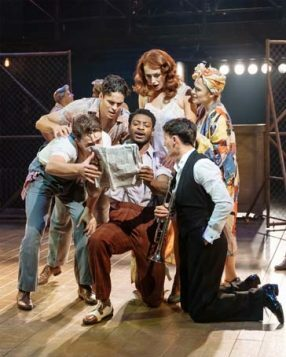 Dex Lee (centre) and the Company of Kiss Me, Kate. Photo by Manuel Harlan.-min