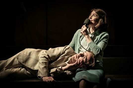 John Heffernan and Gemma Whelan in Pinter Seven. Photo credit Marc Brenner
