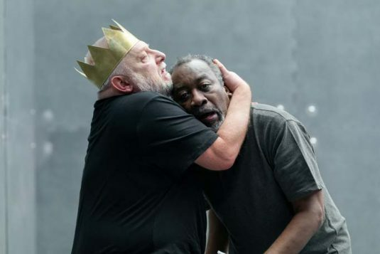 The Tragedy of King Richard the Second. Simon Russell Beale and Joseph Mydell. Photo credit Marc Brenner (2)
